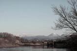 渡良瀬遊水地から望む男体山