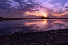 多々良沼の夕日Ⅱ