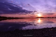 多々良沼の夕日Ⅰ