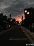 夕暮れの街。