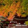 十三重塔と紅葉