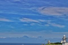城ヶ島灯台と富士山