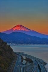 赤富士-薩捶峠-