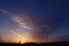 6月の朝の空