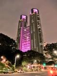 都庁ピンクライトアップ