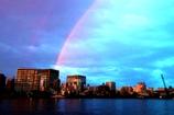 隅田川に掛かる虹