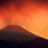燃える富士山