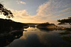 夕焼けの浄土ヶ浜