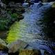 藍色からの緑彩