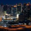 大阪夜景を堪能