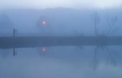 朝霧に包まれながら