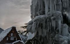 氷柱のオブジェ