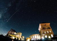 CANON Canon EOS 80Dで撮影した(天文台と流星)の写真(画像)
