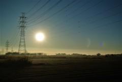 田園の朝日