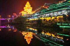 虚実の詮議~中国 Longsheng night view