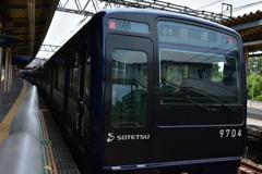 濃紺の列車