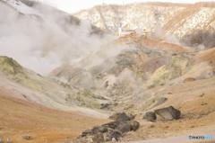 地獄谷と温泉宿