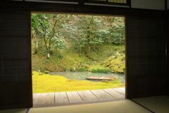 近江孤蓬庵~12月の額縁庭園