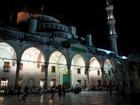 トルコ/イスタンブール/夜のブルーモスク