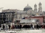 トルコ/雪のイスタンブール新市街