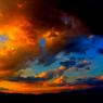山頂の夕焼け