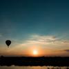 朝日とちょっと気球