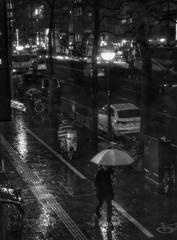 雨の1月17日
