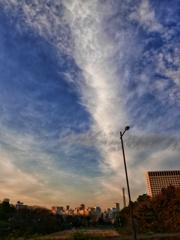 伸びゆく冬雲