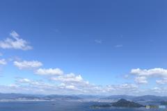砲台山から見た似島、広島市