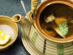 松茸と海老のお吸物(カボス付き)