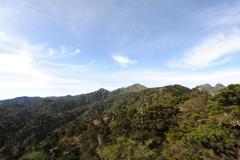 第一展望台より宮之浦岳を望む