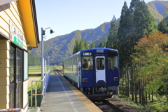 阿仁マタギ駅にて