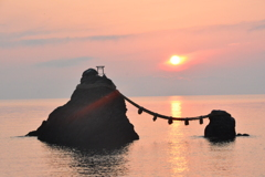 夫婦岩 昇陽