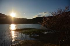 五ケ所湾と夕日