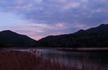 渡良瀬湖ダムの夕暮れ