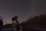 北天を撮影中の愛機
