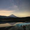 富士山と天の川と