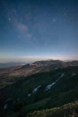 月あかりの草津白根山