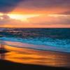 夕景片野海岸