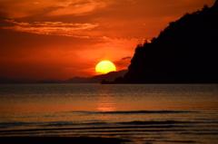 父母ヶ浜の日没