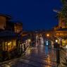 二年坂 -雨夜のHDR-