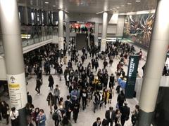 渋谷駅はちらほら