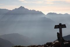 唐松岳より剱岳を望む