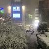 雪の渋谷ハチ公前