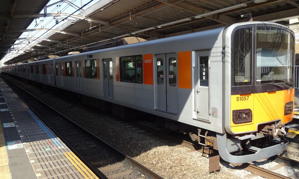 東武鉄道50050系による東急田園都市線準急