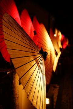 番傘 灯り