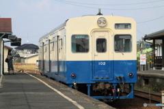 関東鉄道常総線 騰波ノ江駅 キハ102