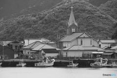 天主堂のある漁村
