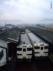 吉松駅に佇むキハ40系