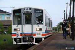 関東鉄道竜ヶ崎線入地駅 キハ2000形気動車